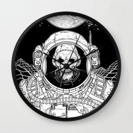 Skeleton Astronaut Illustration Wall Clock