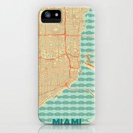 Miami Map Retro iPhone Case