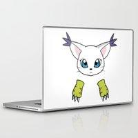 digimon Laptop & iPad Skins featuring Gatomon by JoSumdac
