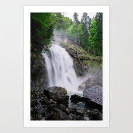 Giessbach waterfall Art Print
