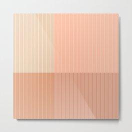 Color Block Line Abstract II Metal Print