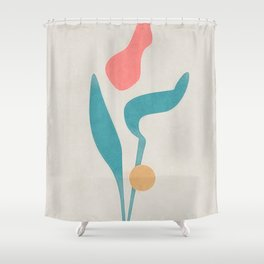 Sun Melt Drip Rose Shower Curtain
