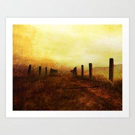 Long Road Taken Art Print
