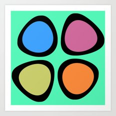 Colorful Easter Eggs Art Print