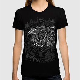 Black and White Abstraction #4 T-shirt