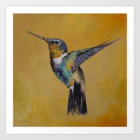 hummingbird Art Prints featuring Hummingbird by Michael Creese