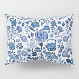 Chinoiserie Tea in the Garden Pillow Sham