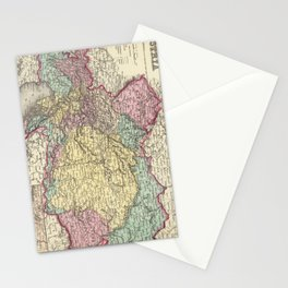 Vintage Map of Austria (1856) Stationery Cards