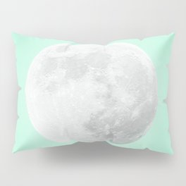 WHITE MOON + TEAL SKY Pillow Sham