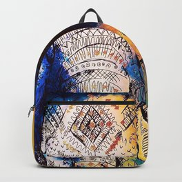 Tribal Watercolor Elephant (Color) Backpack