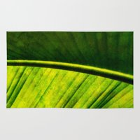 banana leaf Area & Throw Rugs featuring Banana leaf by helsch photography