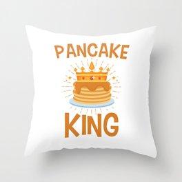 Pancake King Men Boys Saturday Morning Pancakes Throw Pillow