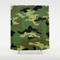 camo Shower Curtains featuring Camo by anhnt32