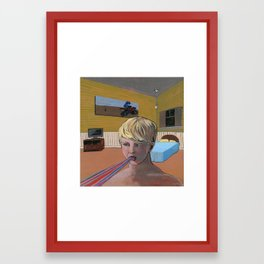 Caught a case of rain mouth Framed Art Print