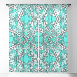 Blue Aquamarine Sheer Curtain