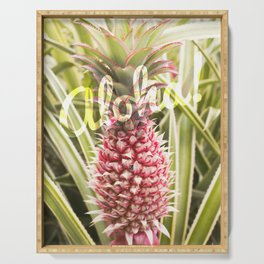 Pink Pineapple Aloha! Serving Tray