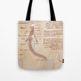 Anatomy of the Mermaid Tote Bag