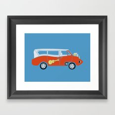 The  Monkeemobile Van Framed Art Print