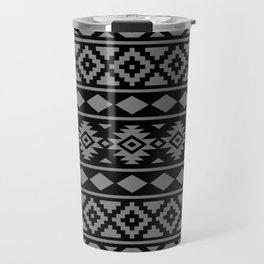 Aztec Essence Ptn III Grey on Black Travel Mug