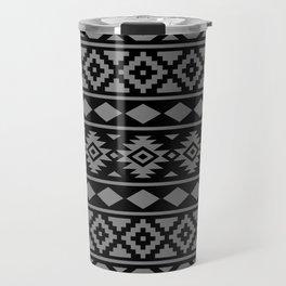 Aztec Essence Ptn III Grey on Black Travel Mug
