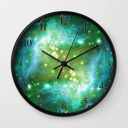 Tiny Lens Textured Nebula Wall Clock