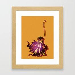 Autumn Sycamore Leaf Framed Art Print