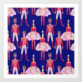 Nutcracker Ballet - Sapphire Blue Art Print