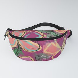 Purely Intentional -Fun Floral - Artwork Fanny Pack