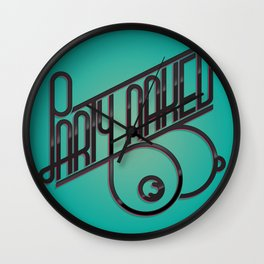 party naked Wall Clock