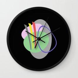 Mid Century IV - Abstract, pastel, minimalism Wall Clock