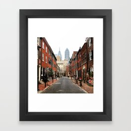 Christmas In Philadelphia Framed Art Print