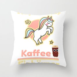 Two things I love: coffee and unicorns Throw Pillow