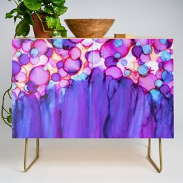 Confetti and Tulle Alcohol Ink Painting Credenza