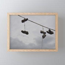 Shoes In The Air Framed Mini Art Print