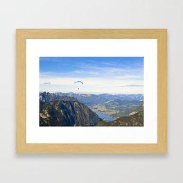 Paraglider above the Austrian Alps 1 Framed Art Print