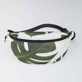 Tropical Green Palm Leaf Fanny Pack