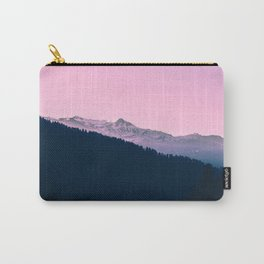 Pink Sunset Rolling Hill Silhouette Landscape Photo Carry-All Pouch