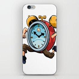 Clock Man Running iPhone Skin