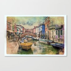 Colors of Burano Canvas Print