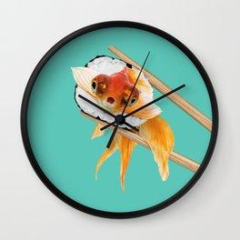 GOLDFISH SUSHI Wall Clock