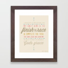 Acts 20:24 Framed Art Print
