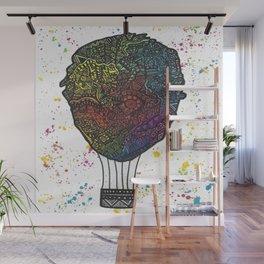 Colourful Hot Air Ballon Wall Mural