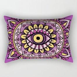 Third Eye Mandala Purple Gold Rectangular Pillow
