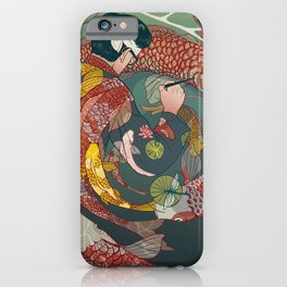 Ukiyo-e tale: The creative circle iPhone Case
