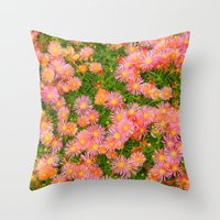 blanket Throw Pillows featuring Daisy Blanket by Kaitlynn Lewis