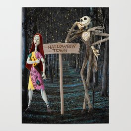 Halloween Town | Jack | Sally | Christmas | Nightmare Poster