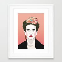 frida Framed Art Prints featuring Frida by Amanda Corbett