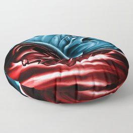 The two races Floor Pillow