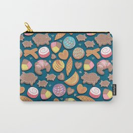 Mexican Sweet Bakery Frenzy // turquoise background // pastel colors pan dulce Carry-All Pouch
