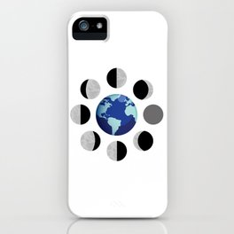 Moon Phases. Illustration design isolated over white. iPhone Case